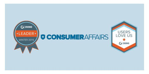 ConsumerAffairs.com Awarded in G2 Crowd's Winter 2019 Best Online Reputation Software
