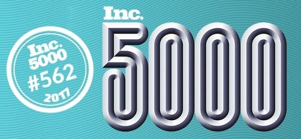 ConsumerAffairs ranks no. 562 on the 2017 Inc. 5000 list of Fastest-Growing Companies